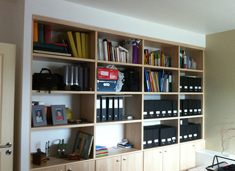 Sur mesure mobilier int gr biblioth que for Bibliotheque bureau integre